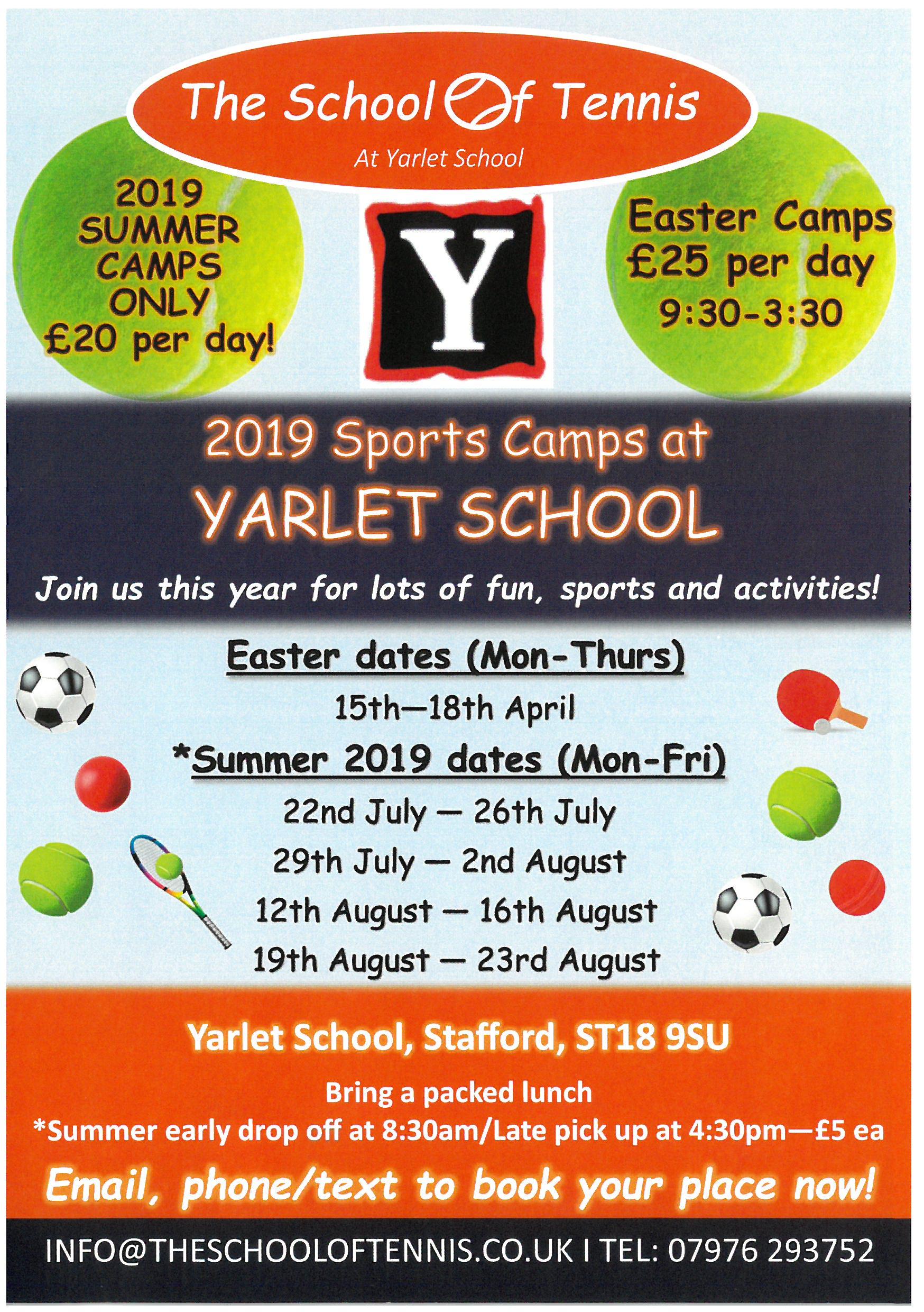Easter and Summer Sports Camps