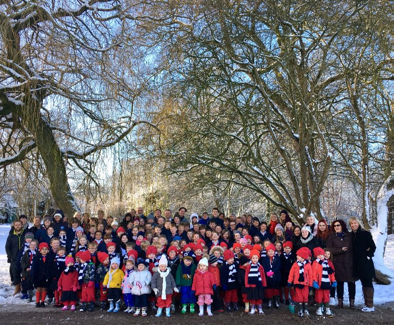 Whole School Snow Photo
